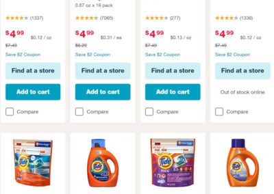 Choice of Tide 37-40 Oz Liquid Laundry Detergents