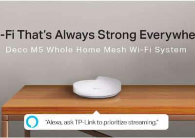 TP-Link (Deco M5) AC1300 Whole Home Mesh Wi-Fi System - Replace Wi-Fi Router and Range Extenders, Simple Setup, Works with Amazon Alexa, Up to 3,800 sq. ft. Coverage (2-Pack)