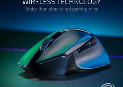 Razer Basilisk X HyperSpeed Wireless Gaming Mouse: Bluetooth & Wireless Compatible - 16K DPI Optical Sensor - 6 Programmable Buttons - 450 Hr Battery - Classic Black