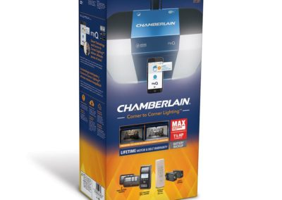 Chamberlain B1381 1.25-hp Corner To Corner Lighting Belt Drive Garage Door Opener Works with MyQ with Built-In WiFi Battery Back-Up LED Light